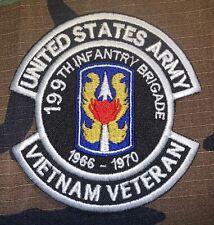 US ARMY 199TH INFANTRY BRIGADE 1966-1970 VIETNAM VETERAN PATCH NEW (B482)