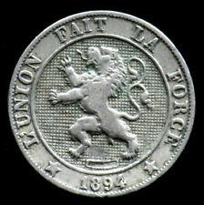 5 CENTIMES 1894 BELGIQUE / BELGIUM - 5 cents - LEOPOLD II premier Roi des Belges