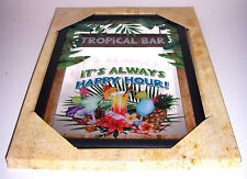 Tropical Bar Happy Hour Nostalgie Miroir de Bar Miroir Bar Miroir 22 X 32 Cm