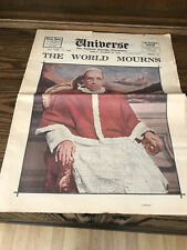 More details for 1958 universe the catholic family newspaper death of pope