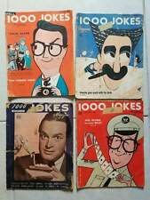 Four Dell 1000 Jokes Magazines - 1946, 1953, and two 1956