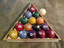 Antique Old Vintage mini miniature small billiards pool balls lot set decor wood