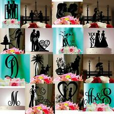 BLACK SILHOUETTE ANY CAKE TOPPER YOU WANT PERSONALIZED CUSTOM WEDDING BIRTHDAY