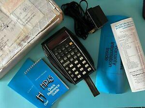 HP-45 Hewlett Packard Scientific Calculator, Soft Case, Charger Cord, Manual