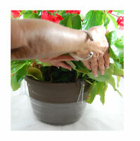 """Drip Pan 8"""" Clear Vinyl for Hanging Basket - Plants Plastic Saucer - 10 Count"""