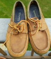 Men's Sperry Top-Sider Original A/O 2-Eye Boat Shoes Sahara Leather 7 1/2 M
