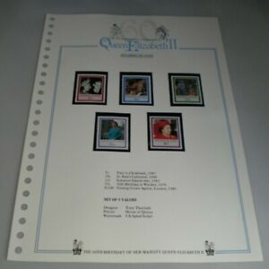 QUEEN ELIZABETH II THE 60TH BIRTHDAY OF HER MAJESTY SOLOMON ISLANDS STAMPS MNH