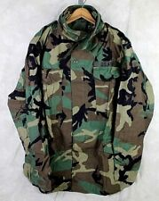 GENUINE US ARMY MILITARY M65 FIELD JACKET BDU WOODLAND COLD WEATHER LARGE LONG