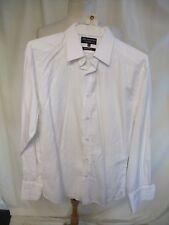 "Mens Shirt M&S Autograph collar 16.5"", length 32"" white formal, double cuff 7382"