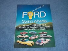 "1977 Ford Spring New Cars Vintage 4pg Ad ""Ford Spring Wheels"" Pinto Mustang"