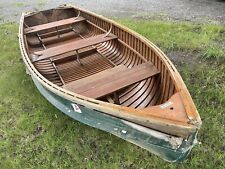 (c) 1950's Thompson Cartopper Sq. end pulling Fishing Out Board boat rowing row