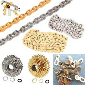 Gold Bicycle Chain Single 6/7/8/9/10/11/12 Speed Bike Chain Replace Parts Silver