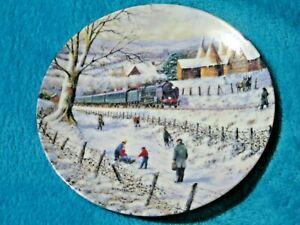 Danbury Mint Country Railways Winter Express Collectors Plate VGC Free UK P&P
