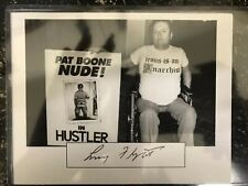 Larry Flynt signed autographed card stock photo Hustler Magazine