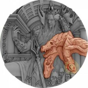 HADES Gods of Olympus 2 Oz Silver Coin 5$ Niue 2018