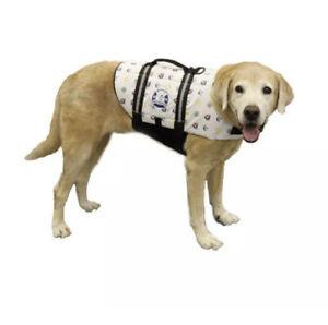 Paws Aboard Nautical Dog Designer Doggy Life Jacket Medium Nwt