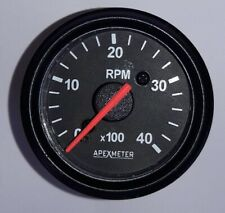 "Electronic 4000 RPM 2 1/16"" (52mm) Tachometer,12V Black"