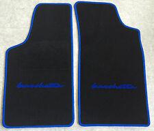Autoteppiche Fußmatten für Fiat Barchetta schwarz blau 2 teilig Neuware