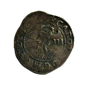 Charles I Threepence - Worcester Mint (HHC5691)