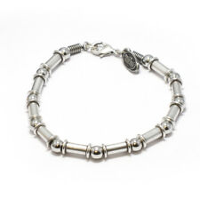 Stainless Steel Bracelet S Men Womens Fashion Silver Bead Chain Link Wristband