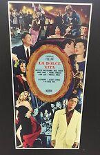 locandina La Dolce Vita Fellini cm. 33x70 ristampa digitale in tiratura limitata
