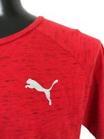 Puma Mens XL Athletic Running Red Black T-Shirt  Logo, short sleeve Extra Large