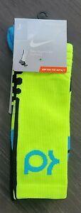 Nike Mens Hyper Elite KD Cushioned Basketball Socks Yellow SX4814 714 Size 12-15