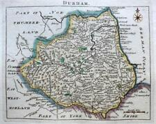 DURHAM SUNDERLAND HARTLEPOOL  BY JOHN ROCQUE GENUINE ANTIQUE MAP  c1769