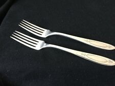 Vintage Oneida Community Silverplate Adam Dinner Forks (2)