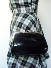 Sac à main noir simili-cuir noeud rétro pinup vintage inspired girly