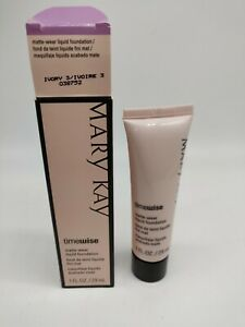 Mary Kay Timewise Ivory 3 matte Wear Liquid Foundation 038752 Older Stock