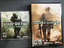 Call of Duty 4 And 2 Modern Warfare  PC DVD ROM Software Activision Video Game