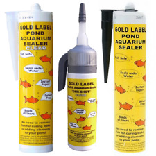 More details for gold label underwater pond sealant - 290ml & 75ml one shot - black or clear