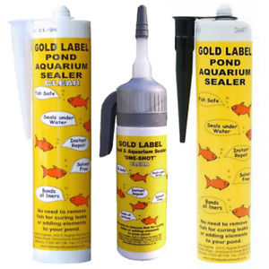 Gold Label Underwater Pond Sealant - 290ml & 75ml One Shot - Black or Clear
