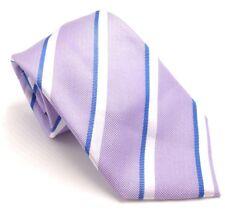 $125 COUNTESS MARA Mens PURPLE BLUE STRIPE SILK NECK TIE CLASSIC NECKTIE 58X3.25