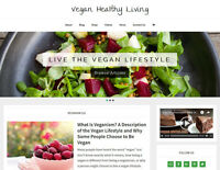 * VEGAN HEALTH * store blog affiliate website business for sale AUTO CONTENT