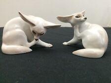 "Rosenthal Porcelain Figurines "" Pair Of Fox"""
