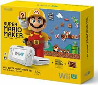 Wii U Super Mario Maker Set WUP-S-WAHA Nintendo from Japan USED FS