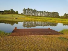 Social distancing  isolated remote  lake,  fishing, walking, countryside escape
