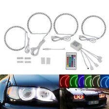4x LED Angel Eyes Halo Rings Light Kit RGB 16 Color Fits BMW E36 E46 3 Series M3