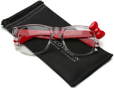 26400fec7735 Hello Kitty Bow Tie Fashion Womens Girls Clear Lens Non Prescription Eye  glasses