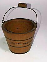 Vintage N.E. Food Fair 1908 Small Wooden Bucket Souvenir Item See pics!