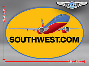 SOUTHWEST AIRLINES SOUTH WEST SWA OVAL AIRPLANE LOGO STICKER / DECAL