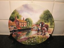 LIFE ON THE WATERWAYS PLATE -  NEW SHOES  - BRADFORD EXCHANGE