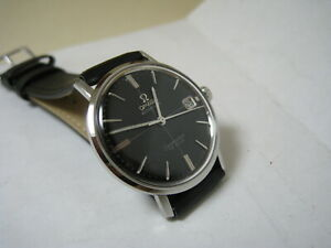 OMEGA SEAMASTER DE VILLE AUTOMATIC DATE BLACK DIAL STAINLESS STEEL 1966 WATCH