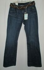 Women's (Size 6M) LEVI'S 545 Low Rise Boot-Cut Jeans Braided Leather Belt NWT