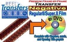 Transfer Kodak NEGATIVE 8mm/Super8 film to DVD  (premium FRAME-BY-FRAME)