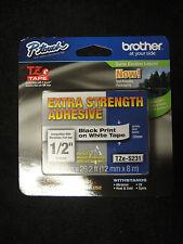 Brother P-Touch TZe-S231 Label Tape extra strength adhesiuve TZES231 TZ-231 OEM
