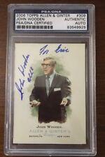 JOHN WOODEN 2006 TOPPS ALLEN GINTERS AUTOGRAPH SIGNED AUTO NCAA CARD PSA DNA 309