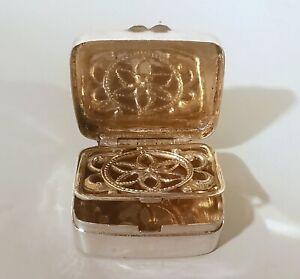 Early 1800s silver vinaigrette smell salt box European Riechdose